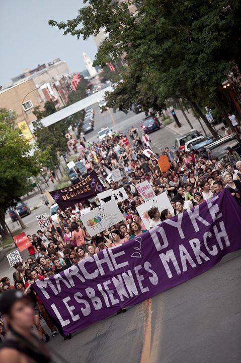 Marie Gravel dyke march