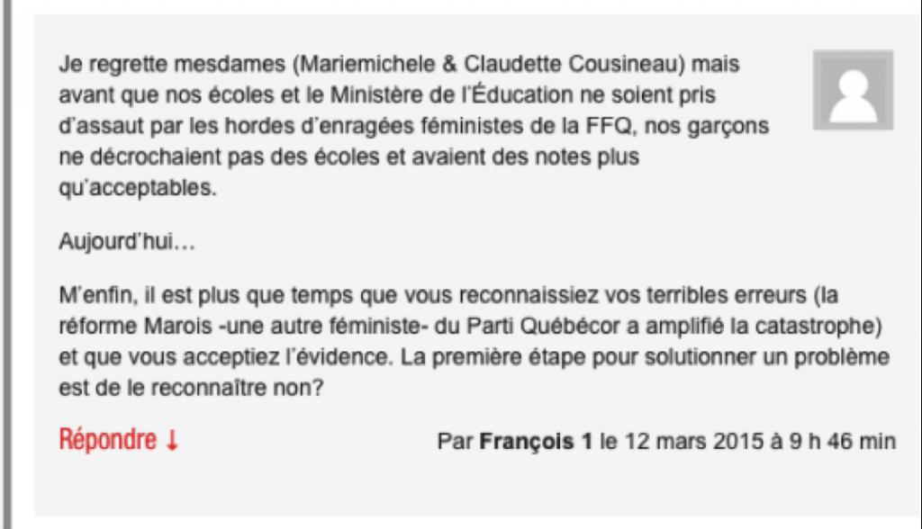 enseignant trop féminin