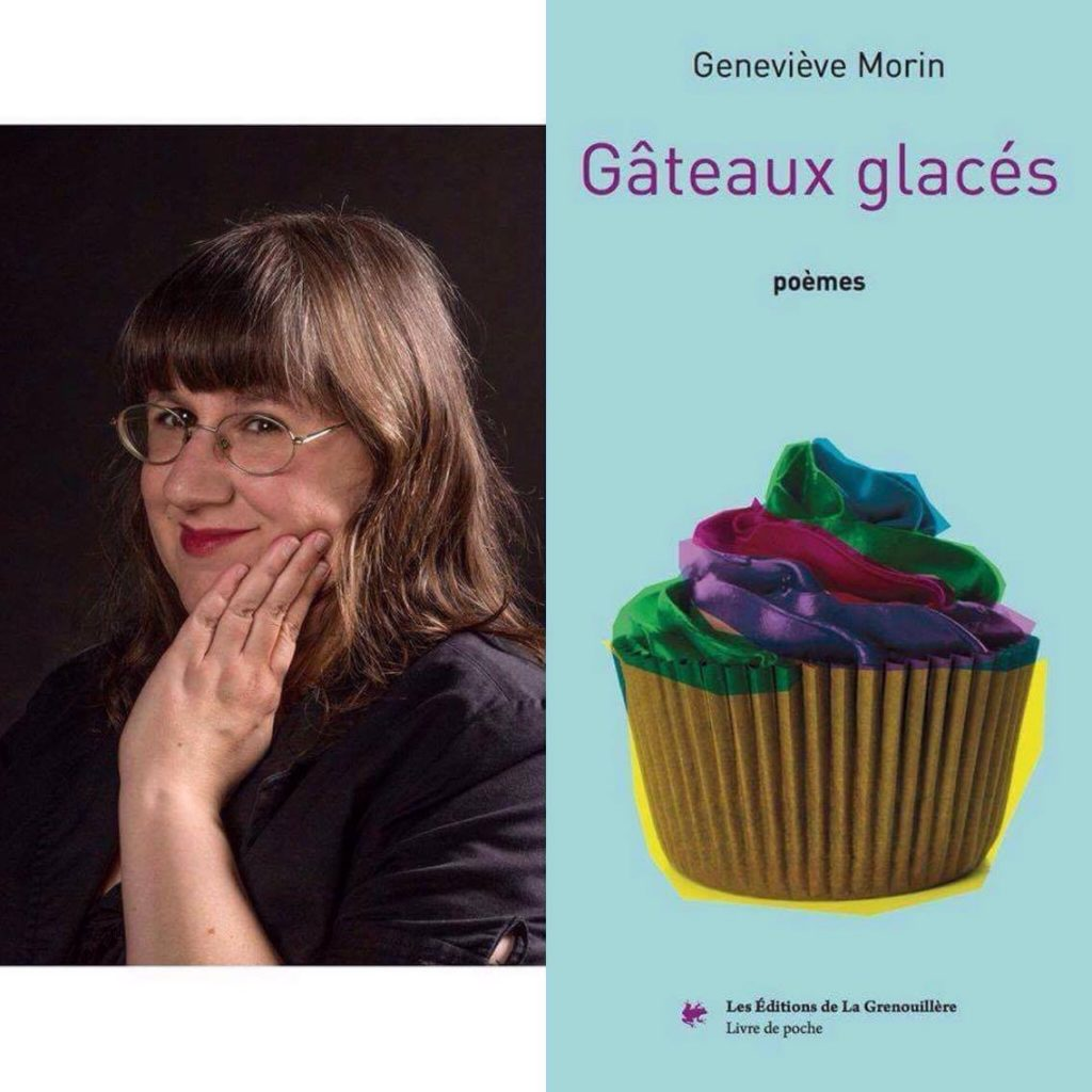Geneviève Morin par Simon Douville et la couverture de Gâteaux glacés